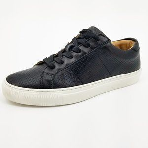 Greats Royale Perforated Low Top Sneaker Black